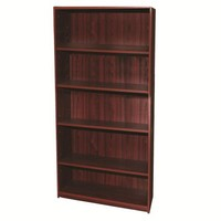 Home Source Industries 4014 Five Shelf Book Case, Mahogany