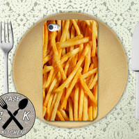 French Fries Food Funny Cool Custom Rubber Tough Phone Case For The iPhone 4 and 4s and iPhone 5 and 5s and 5c
