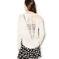 Open Back High Low Sweater
