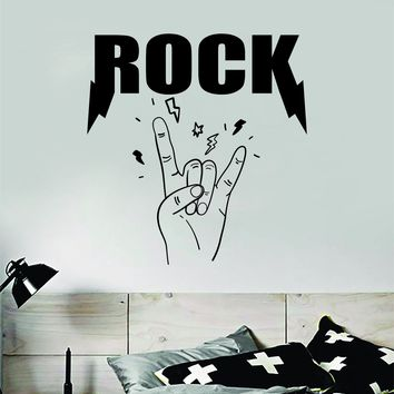 Rock Music Wall Decal Sticker Bedroom Room Art Vinyl Home Decor Music Teen Kids Electric Acoustic Metal Guitar Drums Nursery Boy Girl School