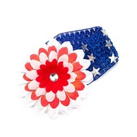 Stars and Stripes Flower Headwrap | Claire's