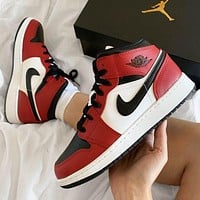 NIKE Sneakers Air Jordan 1  AJ1 OG Women Men Fashion Casual Mid-Top Skateboard Shoes