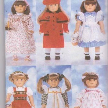 """Pattern for 6 complete American Girl/18"""" doll clothes including Dorothy costume, Bavarian girl costume Butterick 4699 CUT and COMPLETE"""