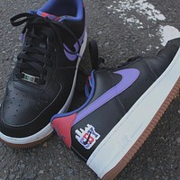 "Nike Air Force 1 Low ""Shibuya"" Black Low-top Sneakers Shoes"