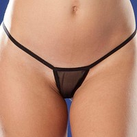 Women's sexy thin sexy transparent thong