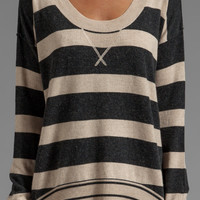 Central Park West Barrington Sweater in Oatmeal/Black from REVOLVEclothing.com