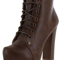 Chelsea Crew Timber Women's Lace Up Ankle Boots
