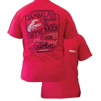 Southern Couture High Priority On the Bayou Country Pocket Unisex Bright T Shirt