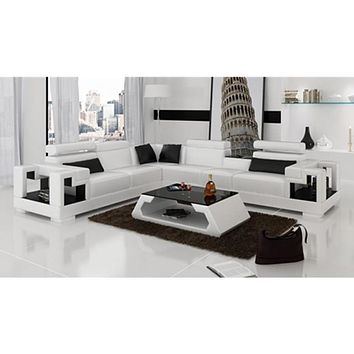 Exclusive Essence Luxurious Leather Sectional Sofa Set