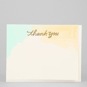 Watercolor Thank You Card - Urban Outfitters