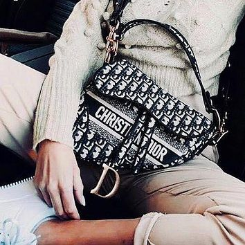 Dior Saddle Bag Saddle Bag With Box Christmas Explosion Recommended Campagin
