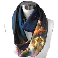 SAMPLE SALE. Mystic Mountain Nebula Circle Scarf