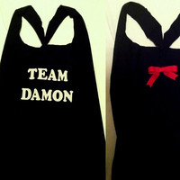 Team Damon Vampire Diaries Work-out Tank Top