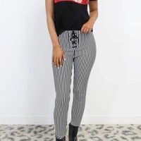 AMUSE SOCIETY Middle Of The Road Stripe Pant