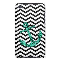 Mint Leopard Anchor iPod Touch Case 4th Gen from Zazzle.com