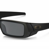 OAKLEY GASCAN 12-856 Matte Black Black Iridium Polarized Sunglasses AUTHENTIC