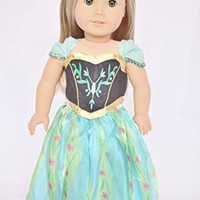 FROZEN INSPIRED CORONATION GOWN FOR AMERICAN GIRL DOLLS