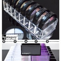 Acrylic Compact Organizer & Beauty Care Holder Provides 8 Space Storage | byAlegory (Clear)