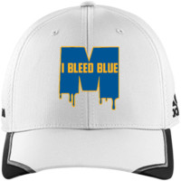Michigan Wolverines I Bleed Blue Adidas Unstructured Cresting Cap