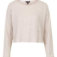 Slouchy Pocket Top - Nude