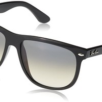 Cheap Ray-Ban Men's Rb4147 Rectangular Sunglasses, Black frame/ Grey Gradient Lens outlet