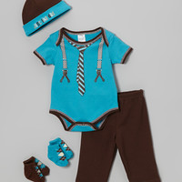 Turquoise 'Just Like Dad' Five-Piece Layette Set   zulily