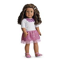 American Girl® Clothing: Sparkle Sequin Outfit for Dolls + Charm
