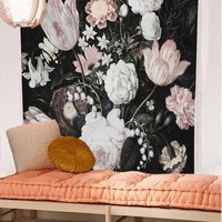 Art Flower Tapestry Indian Mandala Tapestry Hippie Polyester Wall Hanging Tapestries Boho Bedspread Yoga Mat Blanket Table Cloth