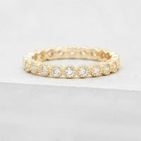 Bezel Eternity Band - Gold