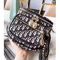 DIOR Fashion New More Letter Bust Bag Shoulder Bag Women