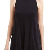 Topshop High Neck Jersey Tunic (Petite) | Nordstrom