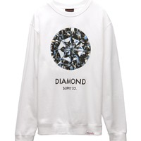 Diamond Supply Co Clarity Crew Fleece - Mens Hoodie - White