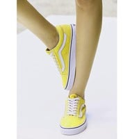VANS Fashion Women/man Running Sport Casual Shoes Sneakers yellow Tagre™