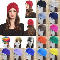 Women Stretchy Solid Hair Wrap Hair Covers - Designer