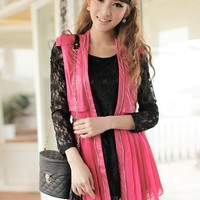 Rose Tanks Cardigan Outwear Pleating Chiffon Bottom Long Zip Vest M/L@MF12206ro - $35.89 : DressLoves.com.