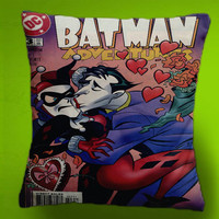 Harley Quinn Batman Comic Cover - Cushion Fabric , Case Cover or with Filling