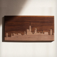 Chicago Skyline Wood Art
