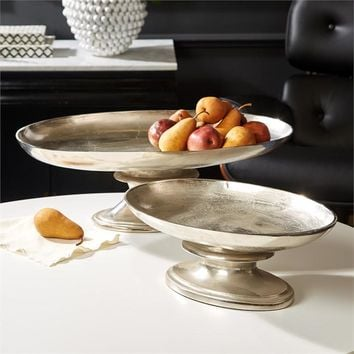 Curvature Aluminum Platters Set of Two