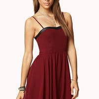 Fit & Flare Faux Leather Dress