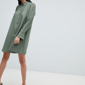 ASOS DESIGN long sleeve mini shirt dress | ASOS