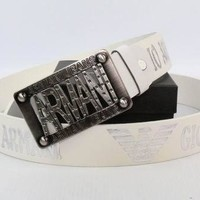 ARMANI Men Women Fashion Smooth Buckle Belt Leather Belt-1