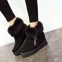 cashmere boots women's cotton shoes