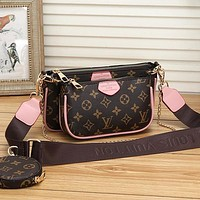 Women Fashion Leather Satchel Crossbody Set Two Piece