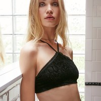 Free People Just Look Don't Touch Velvet Bralette