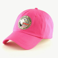 Rose Red Eagle Siberia Baseball Cap Hat