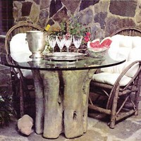 Tree Trunk for Cabin or Lodge Table Base, Indoor Use 29H