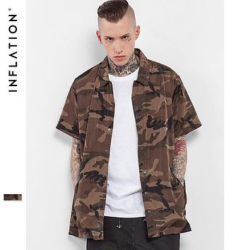 Summer Collection Camouflage Camo Shirt  Army Short Sleeve Camo Shirt For Men