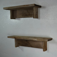 """Pair of rustic reclaimed wood shelves 18""""x4"""" and 15"""" x 5"""""""