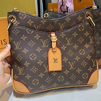 LV Louis Vuitton Fashion classic retro printed square bag with one shoulder cross-body bag lady