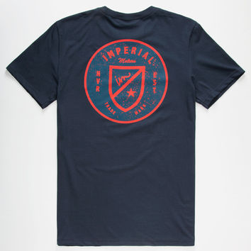 Imperial Motion Army Mens T-Shirt Navy  In Sizes